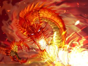 43 「魔炎竜よ、リーバ界を焼き尽くせ!」シュランドラはその魔力で炎の魔獣、... 第6章 大剛